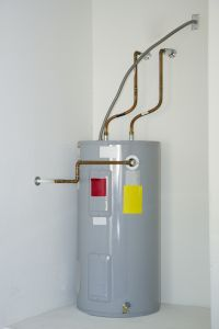 household electric water heater, pump and piping